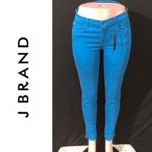 NWT J BRAND Azure Mid Rise Super Skinny Ankle Zip